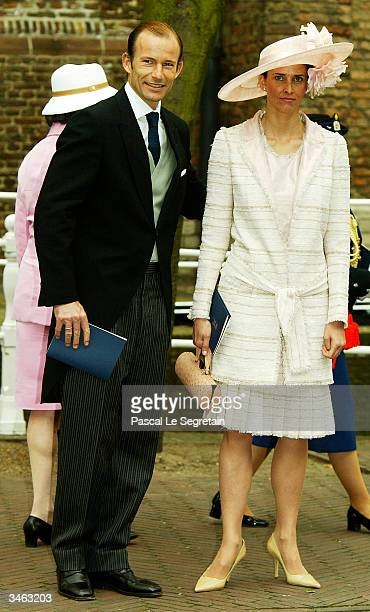 Prince Kyrill of Bulgaria and Princess Rosario leave the church after the wedding of Queen Beatrix's second son Prince Johan Friso Mabel Wisse Smit...