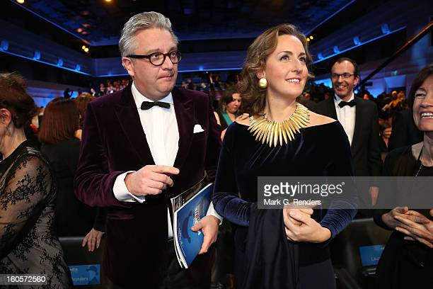Prince Laurent and Princess Claire of Belgium attend les Magritte du Cinema at the Square on February 2, 2013 in Brussels, Belgium.