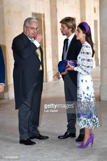 Prince Laurent de Belgique Prince Christian de Hanovre and his wife Princess Alessandra de Osma attend the Wedding of Prince JeanChristophe Napoleon...