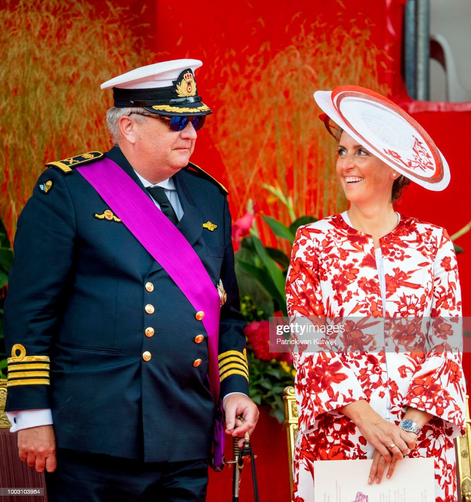 Belgian Royals Attend National Day : News Photo