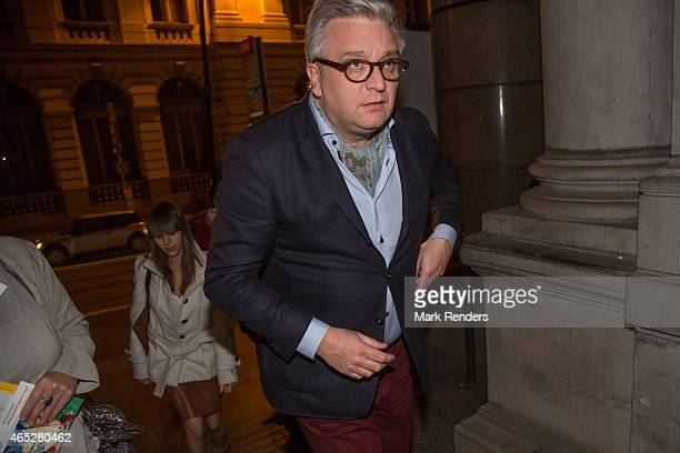 Prince Laurent of Belgium arrives at the Museum des Beaux Arts to attend a Marc Chagall exhibition on March 5 2015 in Brussel Belgium