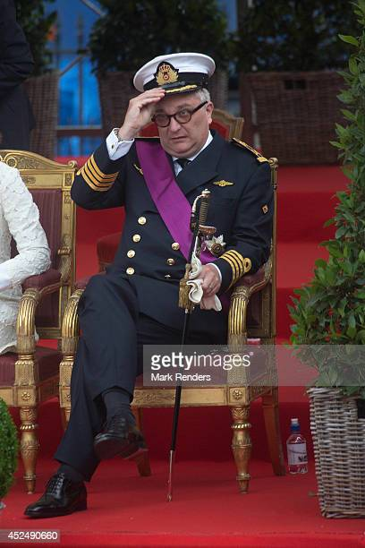 Prince Laurent of Belgium assists National Day at Place des Palais on July 21, 2014 in Brussel, Belgium.