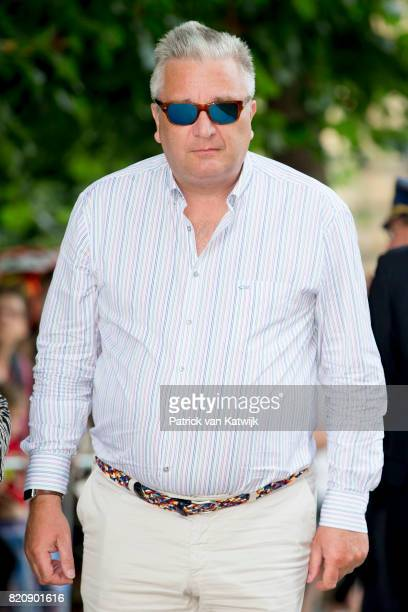 Prince Laurent of Belgium attends the festivities in the Warandepark on the occasion of the Belgian National Day in the Cathedral on July 21, 2017 in...