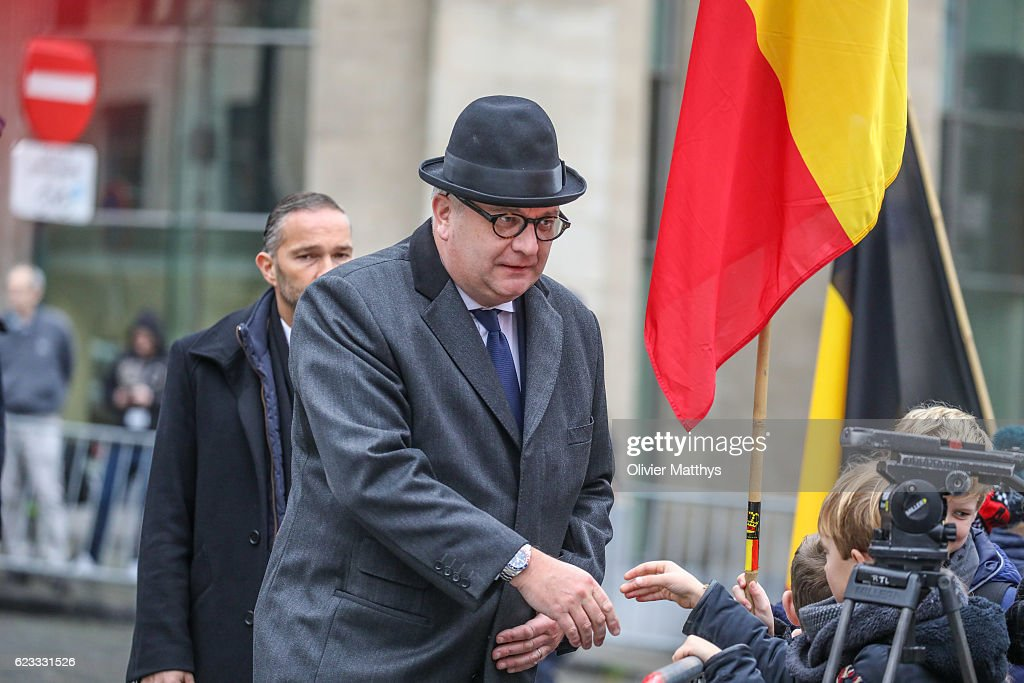 """""""Te Deum"""" Ceremony At Saints-Michel-et-Gudule Cathedral In Brussels : News Photo"""