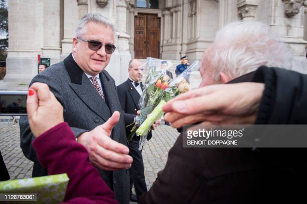 Prince Laurent of Belgium pictured during a special Mass to commemorate the deceased members of the Belgian Royal Family at the OnzeLieveVrouwkerk...