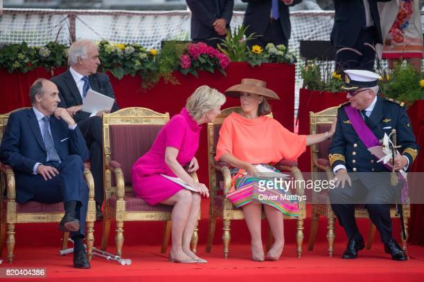 Prince Laurent of Belgium Princess Claire of Belgium Princess Astrid of Belgium and Prince Lorenz of Belgium attend the National Day Parade on July...