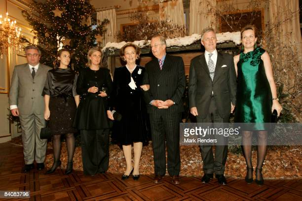 Prince Laurent of Belgium Princess Claire of Belgium Princess Astrid of Belgium Queen Paola of Belgium Albert II of Belgium Prince Philippe of...