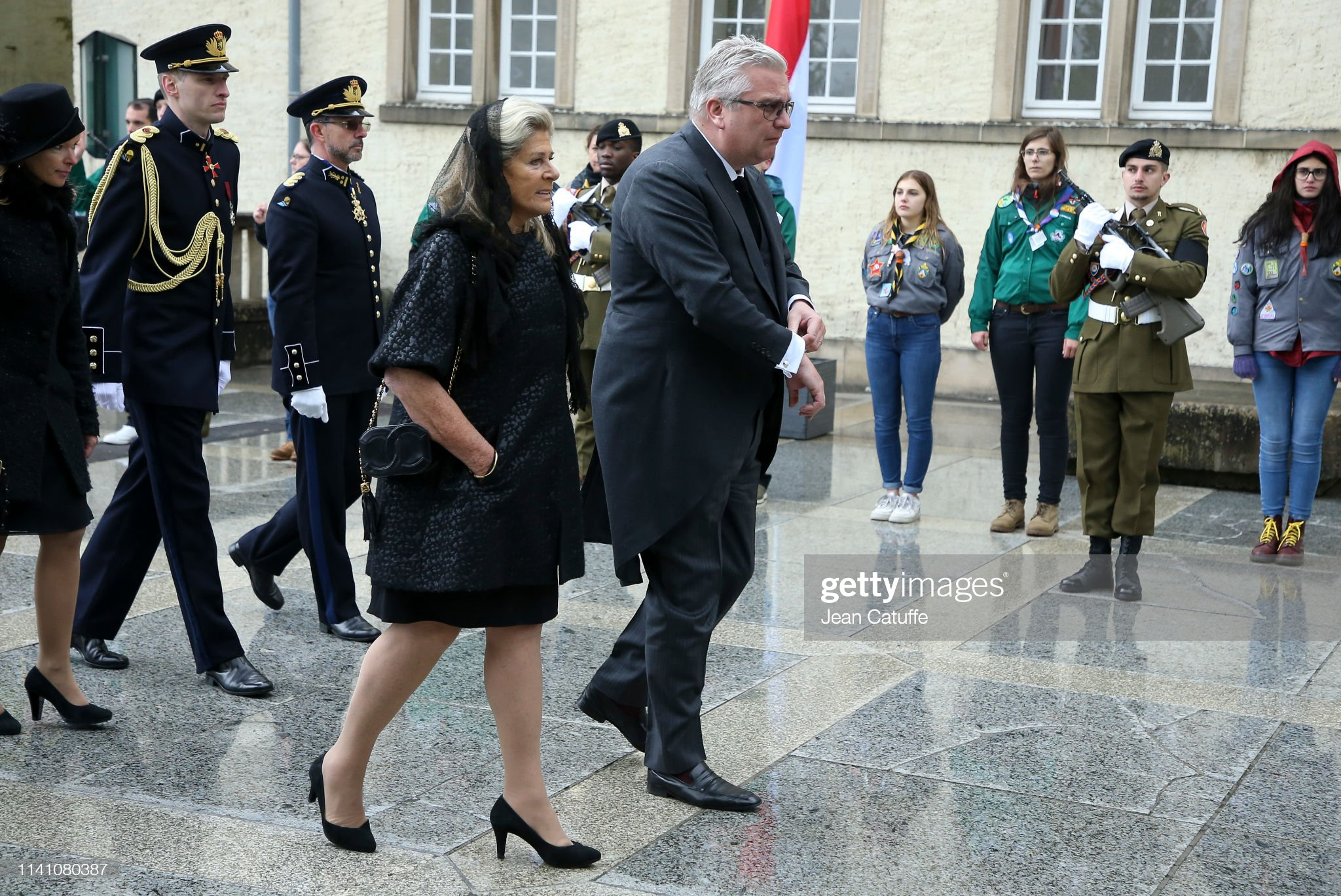 Похороны Великого Герцога Жана https://media.gettyimages.com/photos/prince-laurent-of-belgium-princess-lea-of-belgium-arrive-for-the-of-picture-id1141080387?s=2048x2048