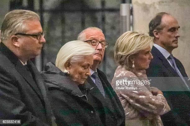 Prince Laurent of Belgium Queen Paola of Belgium King Albert II of Belgium Princess Astrid of Belgium and Prince Lorenz of Belgium attend the Te Deum...
