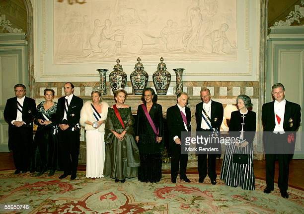 Prince Laurent Princess Claire Prince Lorentz Princess Astrid Queen Paola Maria Jose Ritta President Sampaio King Albert Queen Fabiola and Prince...