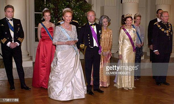 POOL Prince Laurent Princess Mathilde Queen Paola King Carl XVI Gustaf of Sweden Queen Fabiola Queen Silvia Princess Astrid Prince Lorenz and King...
