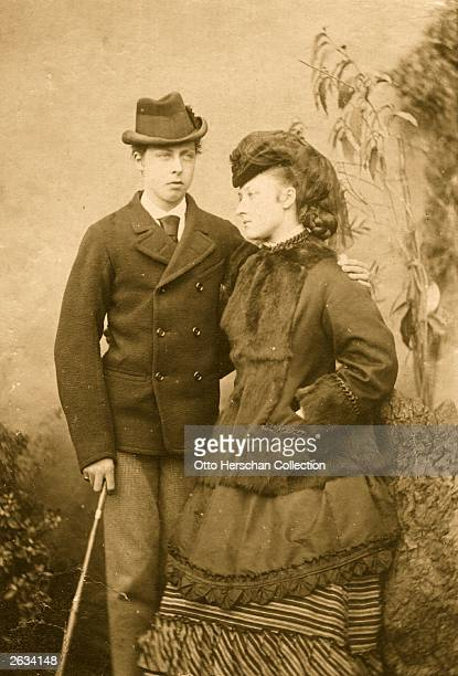 Prince Leopold George Duncan Albert 1st Duke of Albany son of Queen Victoria with his sister Princess Louise Duchess of Argyll