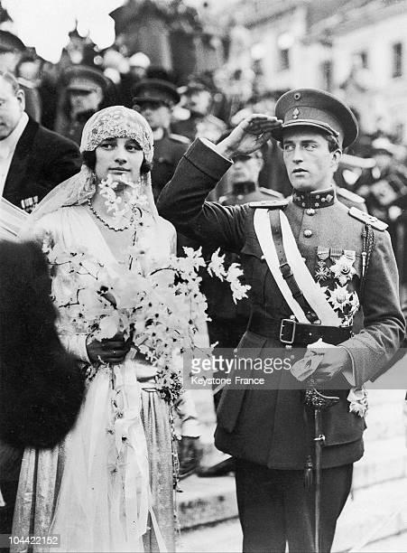 Prince Leopold Iii Of Belgium Wedded Astrid Of Sweden In Stockholm On November 4 1926