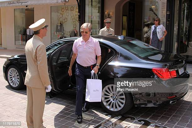 Prince Leopold of Bavaria arrives at the 'Hermitage' hotel to attend the Royal Wedding of Prince Albert II of Monaco to Charlene Wittstock in the...