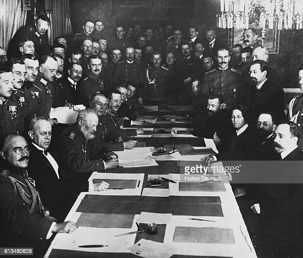 Prince Leopold of Bavaria signs a treaty pact with Russia outlining terms for their coexistence after World War I