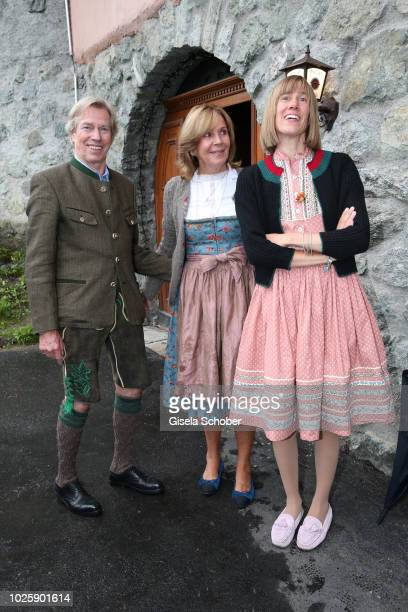 Prince Leopold Poldi of Bavaria and his wife Princess Ursula Uschi of Bavaria and their daughter Princess Pilar of Bavaria during the bavarian...
