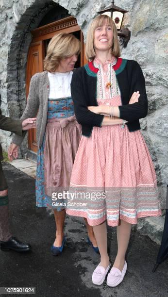 Prince Leopold Poldi of Bavaria and his wife Princess Ursula Uschi of Bavaria's daughter Princess Pilar of Bavaria during the bavarian wedding shower...