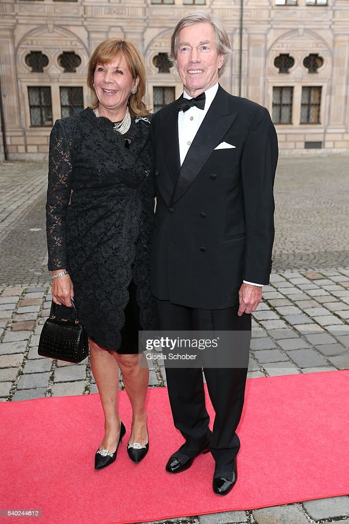 Prince Leopold, Poldi of Bavaria and his wife Princess Ursula, Uschi of Bavaria during a charity dinner hosted by AMADE Deutschland and Roland Berger Foundation at Kaisersaal der Residenz der Bayerischen Staatsregierung on June 14, 2016 in Munich, Germany.