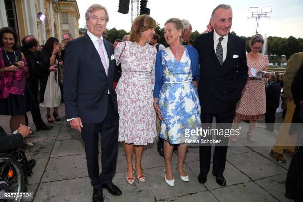 Prince Leopold Poldi of Bavaria and his wife Princess Ursula Uschi of Bavaria Herzog Max in Bayern and his wife Elisabeth in Bayern during the Summer...