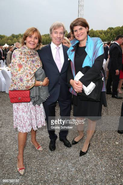 Prince Leopold Poldi of Bavaria and his wife Princess Ursula Uschi of Bavaria and Claudia Stamm daughter of Barbara Stamm during the Summer Reception...