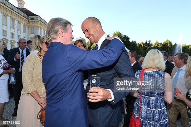 Prince Leopold Poldi of Bavaria and Prince Albert von Thurn und Taxis during the Summer Reception of the Bavarian State Parliament at Schleissheim...