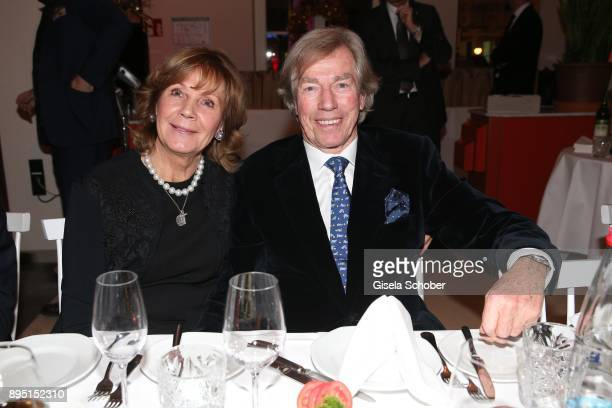 Prince Leopold Poldi von Bayern and his wife Princess Ursula Uschi von Bayern during the annual Christmas Roast Kid Dinner on December 18 2017 in...