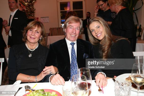 Prince Leopold 'Poldi' von Bayern and his wife Princess Ursula Uschi von Bayern and Victoria Swarovski during the annual Christmas Roast Kid Dinner...