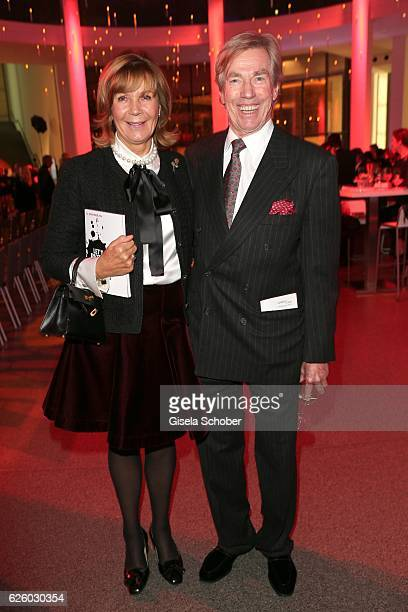 Prince Leopold Poldi von Bayern and his wife Princess Uschi Ursula von Bayern during the PIN Party Let's party 4 art' at Pinakothek der Moderne on...
