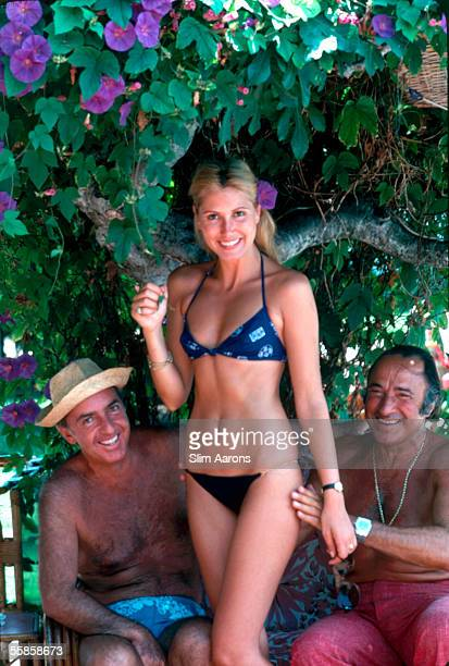 Prince Lilio Sforza Ruspoli and his wife Maria Princess Pia Ruspoli with a friend in Marbella 1978