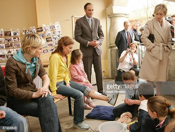 Prince Lorentz of Belgium , Princess Astrid and their daughter Princess Laetitia , who turns three today, attend 14 Days of The Belgian Red Cross...