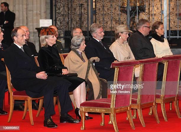 Prince Lorentz of Belgium Princess Astrid of Belgium Queen Fabiola of Belgium Crown Prince Philippe of Belgium Princess Mathilde of Belgium Prince...