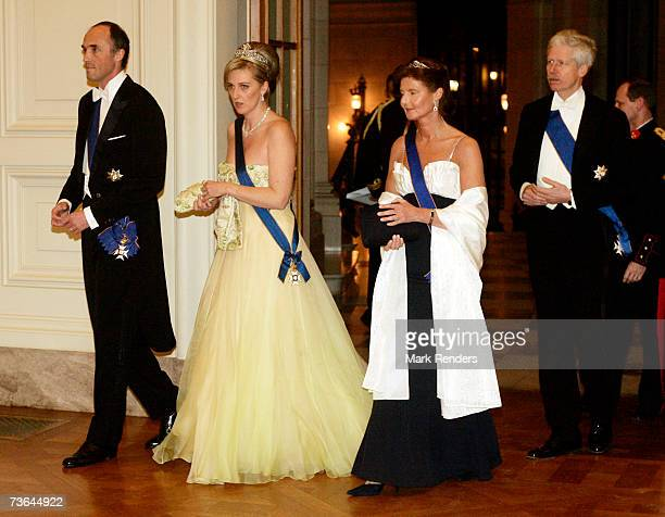 Prince Lorentz Princess Astrid Princess Margaretha and Prince Nilolaus arrive at Laeken Castle on March 20 2007 in Brussels Belgium The Grand Duke...