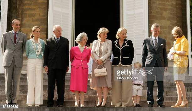 Prince Lorentz Princess Claire King Albert Queen Fabiola Princess Astrid Queen Paola Prince Gabriel Prince Philippe and Princess Mathilde with baby...