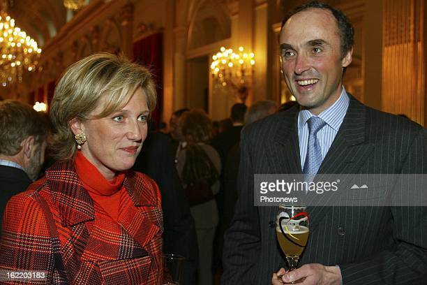 Prince Lorenz of Belgium and Princess Astrid at the New Year reception at the Royal Palace for the Belgian authorities.