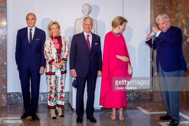 Prince Lorenz of Belgium Princess Astrid of Belgium King Philippe of Belgium Queen Mathilde of Belgium and Prince Laurent of Belgium attend the...