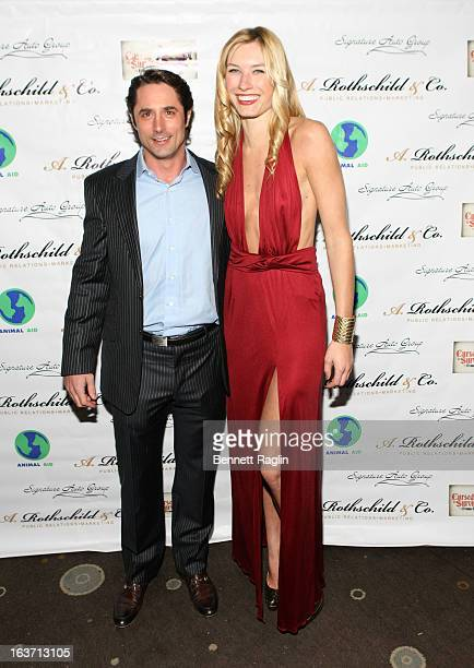 Prince Lorenzo Borghese and Courtney Graf attend Cursed To Survive 2013 Animal Aid USA Benefit at The Empire Room on March 14, 2013 in New York City.