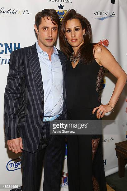 Prince Lorenzo Borghese and Jennifer Dayan attends the 2014 Animal USA Event at The Jane Hotel on January 29 2014 in New York City