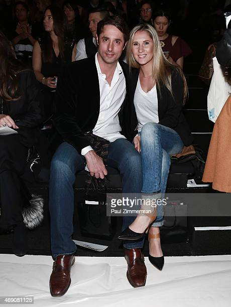 Prince Lorenzo Borghese and Linnea Sensenbaugh attend the Zang Toi Show during Mercedes-Benz Fashion Week Fall 2014 at The Salon at Lincoln Center on...
