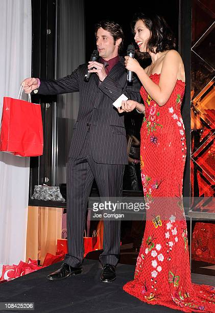 """Prince Lorenzo Borghese and TV host Li Jing attend the """"Dare to Dream!"""" reception at 230 Fifth Avenue on January 26, 2011 in New York City."""