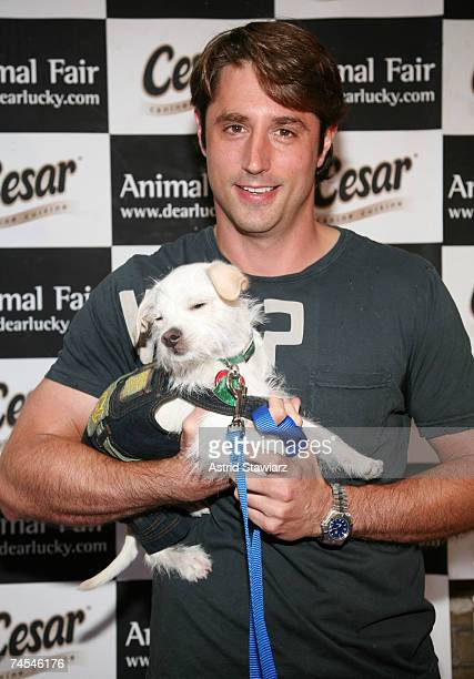 Prince Lorenzo Borghese attends the 8th annual Paws for Style fashion show with dog James Bond on June 11, 2007 in New York City.