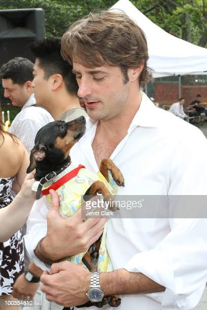 Prince Lorenzo Borghese attends the Adoptapalooza pet adoption at Washington Square Park on May 22, 2010 in New York City.