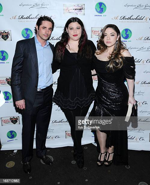Prince Lorenzo Borghese, Mia Tyler and Rimma Rose attend Cursed To Survive 2013 Animal Aid USA Benefit at The Empire Room on March 14, 2013 in New...