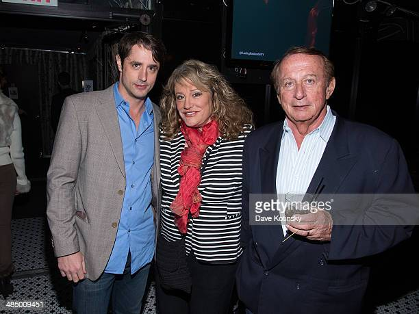 Prince Lorenzo Borghese mother and father attend the Lucky Bastards premiere at the Hotel Chantelle on April 15 2014 in New York City