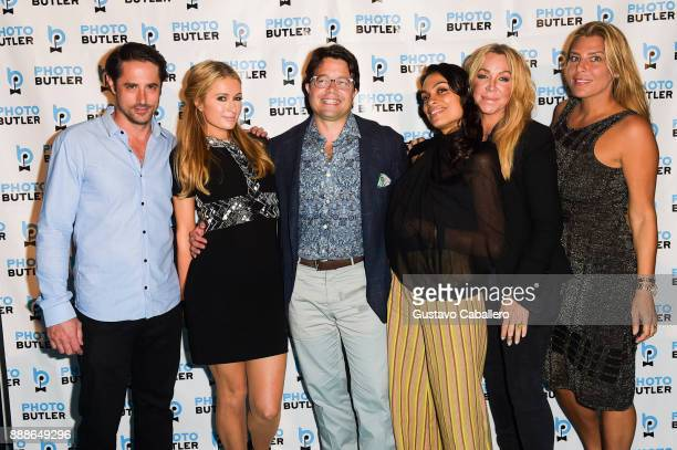 Prince Lorenzo Borghese Paris Hilton Founder Chief Butler of Photo Butler Andy Goldfarb Rosario Dawson Anna Rothschild and Claudine Deniro attend...