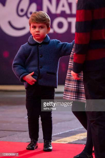 Prince Louis attends a special pantomime performance at London's Palladium Theatre, hosted by The National Lottery, to thank key workers and their...