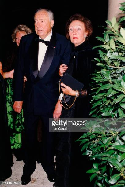 Prince Louis Napoleon and Princess Alix Napoleon attend the Gala Dinner given for the Wedding of Prince Guillaume de Luxembourg and Sibilla Weiller...