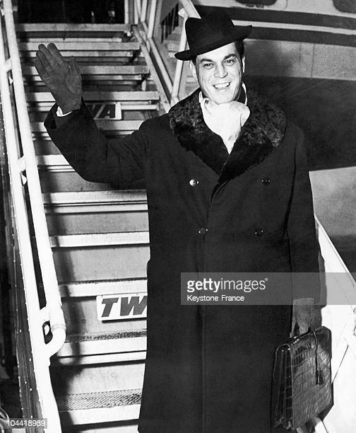 Prince Louis NapoleonBonaparte Getting Off A Plane At The Airport Of Chicago In The 1930'S1940'S