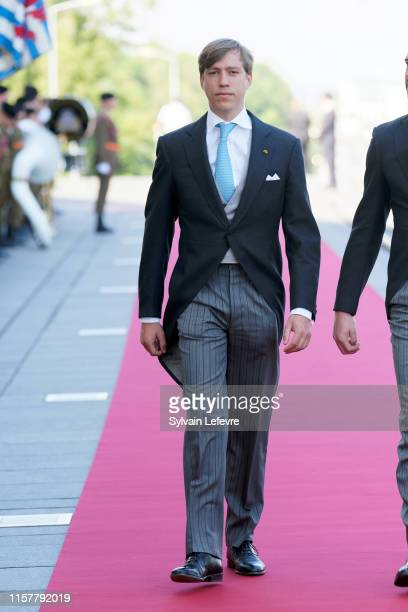 Prince Louis of Luxembourg and arrives at the Philharmonie for the concert on the National Day on June 23 2019 in Luxembourg Luxembourg