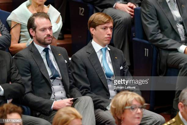 Prince Louis of Luxembourg and Prince Felix of Luxembourg attend the concert on the National Day at the Philharmonie on June 23 2019 in Luxembourg...