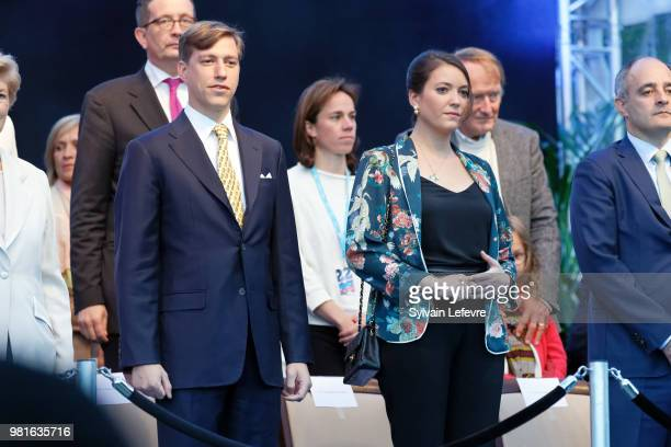 Prince Louis of Luxembourg and Princess Alexandra of Luxembourg celebrate National Day on June 22 2018 in Luxembourg Luxembourg
